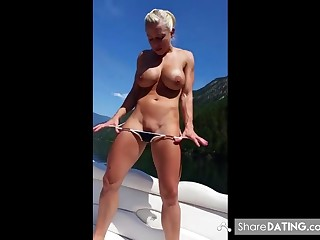 Sexy blonde sucks cock like there is no tomorro