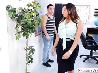 Naughty America - Fat exasperation Latina school fucks her student!