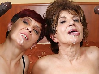 Grannies Hardcore Fucked Interracial Porn hither Old Women sex