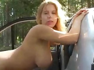 Prex Russian Teen Ass Fuck encircling Car