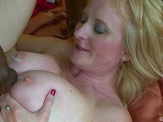 Mature Monika Wipper ass fucked and cum sprayed by a obese black dick