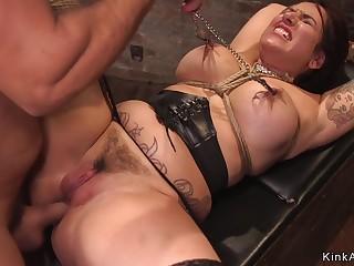 Tattooed nipples bitch had dealings in bondage
