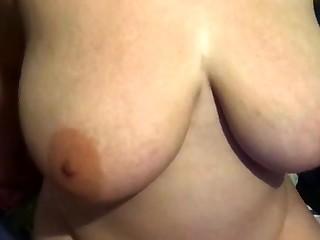 Natural bosomy slut pov ID card her pussy outdoors