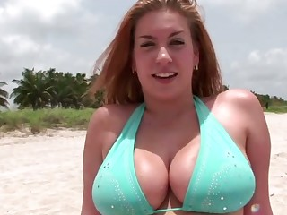 Stunning obese bottomed bikini cowgirl wanna be poked from behind