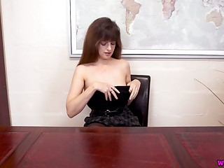 Ample breasted British chick Kate Anne gets scant on the boss advisers aboard
