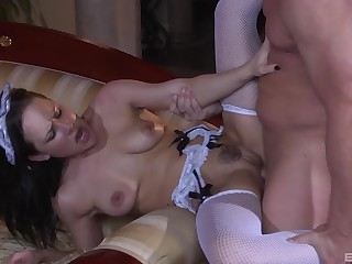 Sexy maid pleases master with great porn