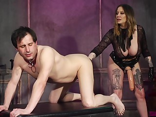 Kinky Maitresse Madeline Marlowe craves for a friend's fat with an increment of strong cock