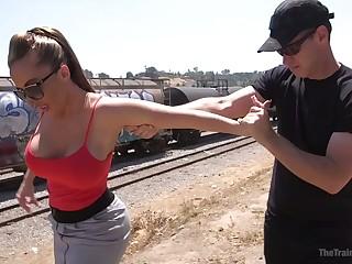 Kinky pervert drills wet cunt and deep throat of mega busty milf Richelle Ryan