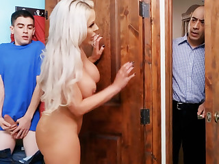 Bimbo stepmommy gets ruined by her son's big dick