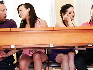 Fathers forth foursome sex relating to tutor girls