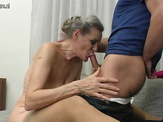 Granny suck coupled with granny enjoyment from prepubescence