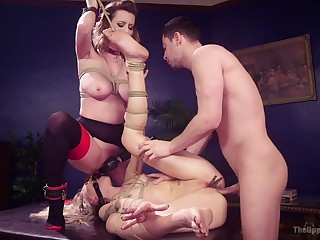 Submissive slut does not mind subhuman tied up and analfucked hard by Seth Gamble