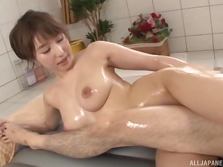 Fertility bathtub hardcore coitus session with Japanese Ayami Shunka