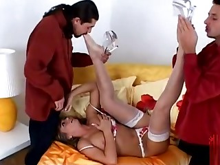Lovely Rita Faltoyano giving very hot blowjob