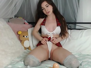 18 years old Horny White-hot Riding Hood fucked herself - WEBcamx.info