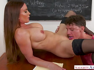 Buxom Teacher Takes Prick - diamond foxxx