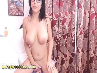 Sexy Nerd Performed A Fantastic Striptease Stay