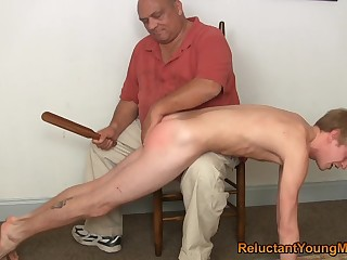 Twink gets spanked and ass fucked by his front dad