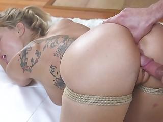 Ardent sexy nympho Zoey Monroe wanna get will not hear of holes fucked doggy hard