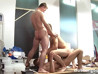Twinks are sharing a lot of threesome prevalent silly gay scenes