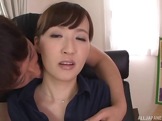 Blowing a hard stranger's cock on the amaze is amazing for Misaki Kohanai