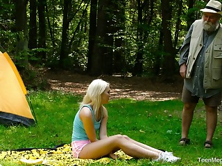 Blondie Lovita Conceivability is fucked hard by kinky germ in the forest
