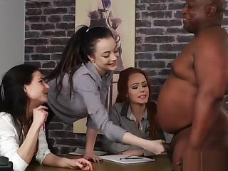 British CFNM beauties wank dick at casting
