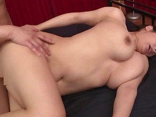 Busty Japan mommy, rough sex and cum on their way furry cunt