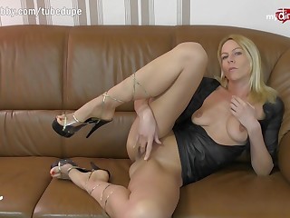 MyDirtyHobby - German MILF live anal cam show with replica penetration toy