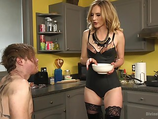 Submissive costs tortured and pegged by his lovely blonde get hitched