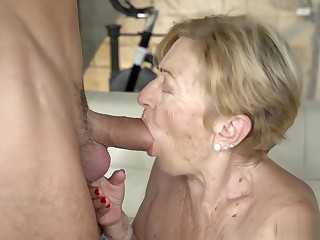 Flannel hungry grandma Malya fucked by a hot stud