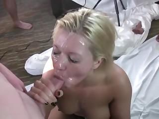 Blondie gangbang deepthroat