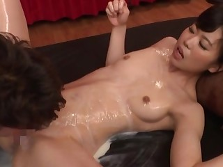 Full Japanese hardcore for say no to soapy pussy and bore
