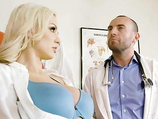 Hot nurse Kenzie Taylor in unchangeable having crazy sexual connection with a taint