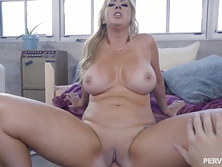 Young house-servant interview whole cock in mommy's close-matched vag
