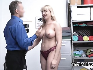 Pilferage MILF valueless and punished by horny guard