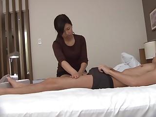 Japanese massage gone wrong handjob take cumshot Subtitles