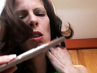 Mature amateur wife toys sucks and fucks with cumshot