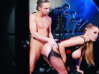 Honcho blonde whore acts obedient in scenes of male snag a grasp at