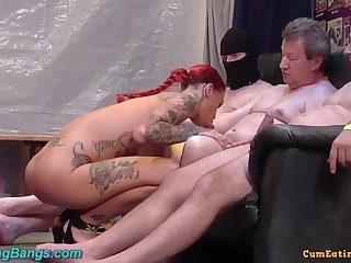 heavy-breasted tattooed slut party had sexual intercourse