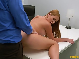 Doggy at near casting leads young dabbler to barmy orgasms