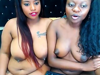 Ebony Lesbian Vibrator Going to bed Other Lesbian Enduring