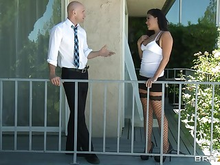 Murkiness join in matrimony London Keyes loves to monster fucked by her lover