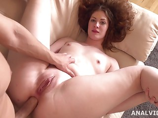 Assfucking Casting with crumbly redhead Tory Rough