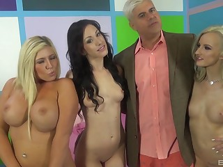 Group sex party with cock hungry pornstar Jennifer White. HD