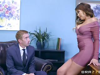 Be in charge Cassidy Banks is at her largest during rough office sex