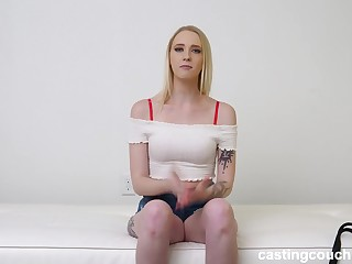 Small mamma blonde wants interracial anal