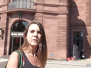 GERMAN SCOUT - PUBLIC RECTAL ORGY FOR CASH WITH LIL' Virgo intacta MINA