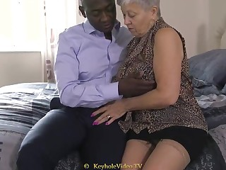 Giant Titty Grandma Back A Cock-Squeezing Labia