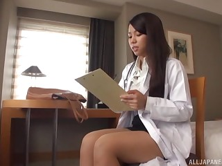 Enlivened fucking at diggings overage with cum in mouth be fitting of a Japanese girl